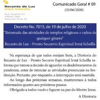 Retomada das atividades religiosas em Ribeirão Pires
