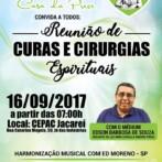 Reunião de Curas e Cirurgias Espirituais em JACAREÍ